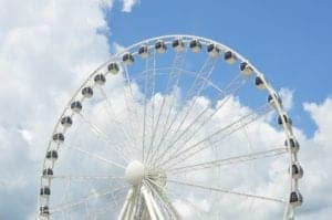 The enormous ferris wheel at The Island in Pigeon Forge.