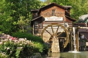 The beautiful Dollywood Grist Mill.
