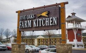 Five Oaks Farm Kitchen sign